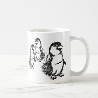 Desfile del pingüino tazas de café