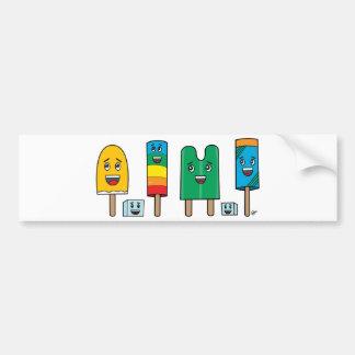 Desfile del Popsicle - pegatina para el parachoque Pegatina Para Auto