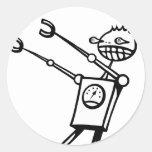 Desfile del robot pegatina redonda