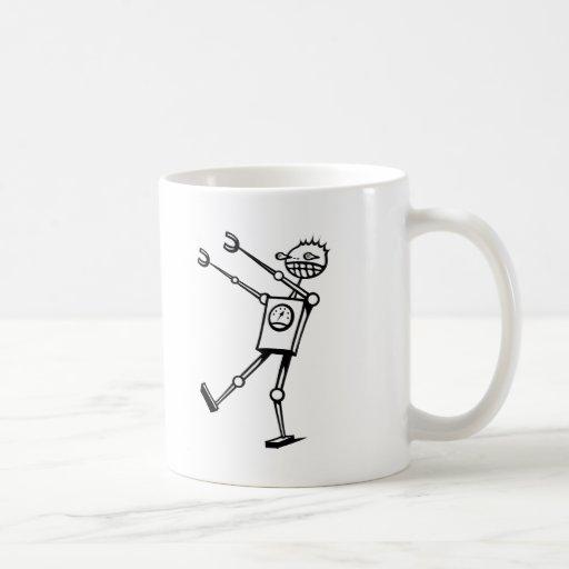 Desfile del robot taza de café
