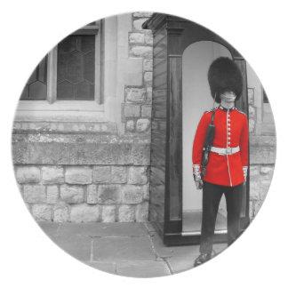 Desfile del soldado de Londres Plato Para Fiesta