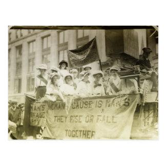 Desfile del sufragio de las mujeres tarjetas postales