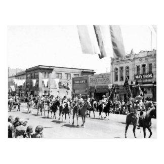 Desfile del vaquero - vintage postales