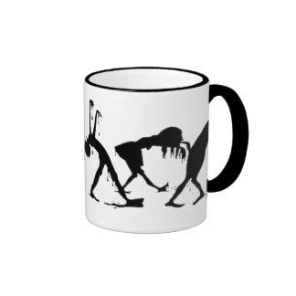 Desfile del zombi taza de café