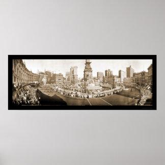 Desfile Indianapolis EN la foto 1918 Poster