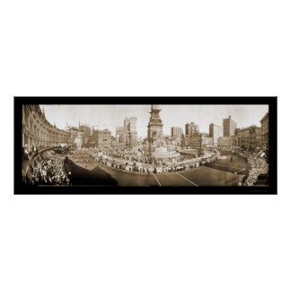 Desfile Indianapolis EN la foto 1918 Póster
