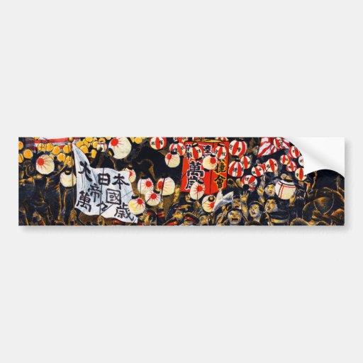 Desfile japonés pegatina de parachoque