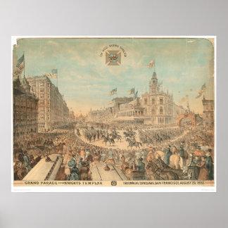 Desfile magnífico de los caballeros Templar 1294A Posters