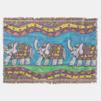 Desfile maravilloso del elefante manta