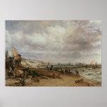 Desfile marino y embarcadero de cadena viejo, 1827 póster
