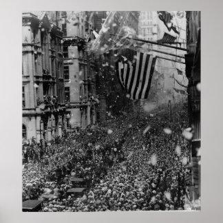 Desfile New York City NY de Gertrude Ederle del na Posters