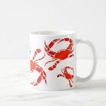 Desfile rojo de los cangrejos tazas
