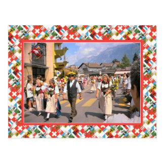 Desfile suizo del día de la nación, Interlaken Postal