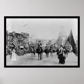 Desfile Washington, DC 1913 del sufragio Poster