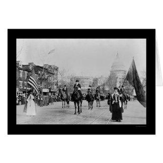 Desfile Washington, DC 1913 del sufragio Felicitacion