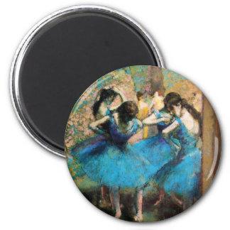 Desgasifique a los bailarines azules imanes de nevera