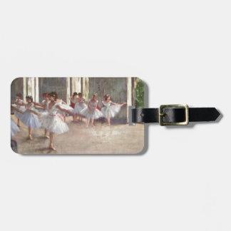 Desgasifique a los bailarines de ballet etiqueta para maleta