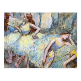 Desgasifique a los bailarines de ballet impresioni postal