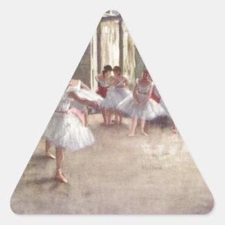 Desgasifique a los bailarines de ballet pegatina triangular