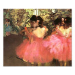 Desgasifique a los bailarines en la impresión rosa cojinete
