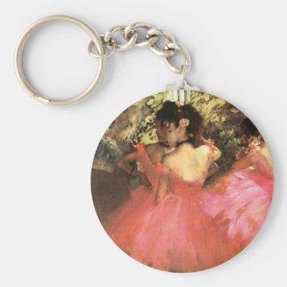 Desgasifique a los bailarines en llavero rosado