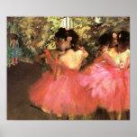 Desgasifique a los bailarines en poster rosado
