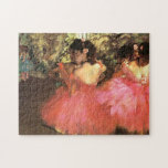 Desgasifique a los bailarines en rompecabezas rosa