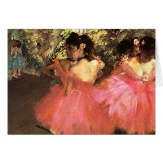 Desgasifique a los bailarines en tarjeta de felici