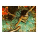 Desgasifique al impresionista verde del ballet del tarjeta postal