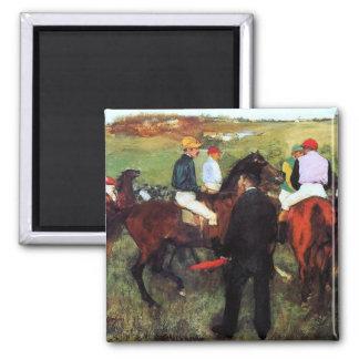 Desgasifique - caballos de carreras - la pintura d imán cuadrado