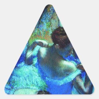 desgasifique el arte de la bailarina pegatina triangular