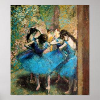 Desgasifique el poster azul de los bailarines