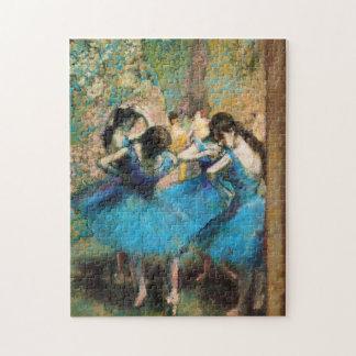 Desgasifique el rompecabezas azul de los bailarine
