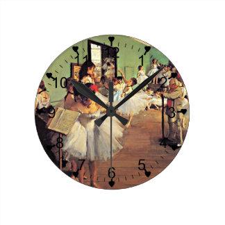 Desgasifique: La clase de danza, 1874 Reloj Redondo Mediano