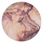 Desgasifique la placa rosada de la bailarina platos para fiestas