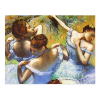 Desgasifique la postal azul de los bailarines
