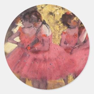 Desgasifique: Los bailarines rosados Pegatina Redonda