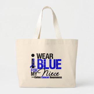 Desgaste Blue Ribbon del cáncer de colon I para mi Bolsas De Mano