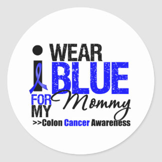 Desgaste Blue Ribbon del cáncer de colon I para mi Pegatina Redonda