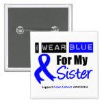 Desgaste Blue Ribbon del cáncer de colon I para mi Pins