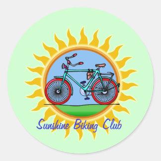 Desgaste de encargo del logotipo del club que mont pegatinas redondas
