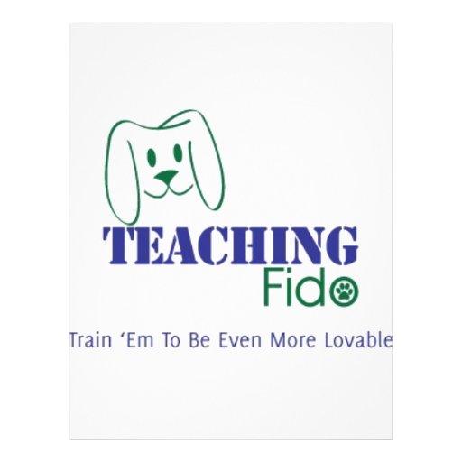 """Desgaste de enseñanza del logotipo de Fido Folleto 8.5"""" X 11"""""""