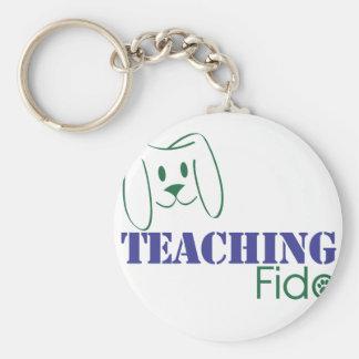 Desgaste de enseñanza del logotipo de Fido Llavero Redondo Tipo Pin