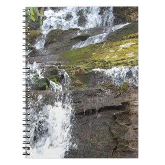 desgaste de la cascada cuaderno