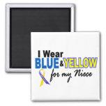 Desgaste de Síndrome de Down I azul y amarillo par Iman