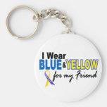 Desgaste de Síndrome de Down I azul y amarillo par Llaveros Personalizados