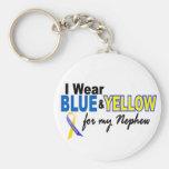 Desgaste de Síndrome de Down I azul y amarillo par Llavero Personalizado