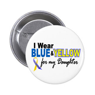 Desgaste de Síndrome de Down I azul y amarillo par Pin