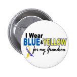 Desgaste de Síndrome de Down I azul y amarillo par Pins