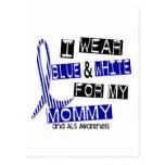 Desgaste del ALS I azul y blanco para mi mamá 37 Tarjetas Postales